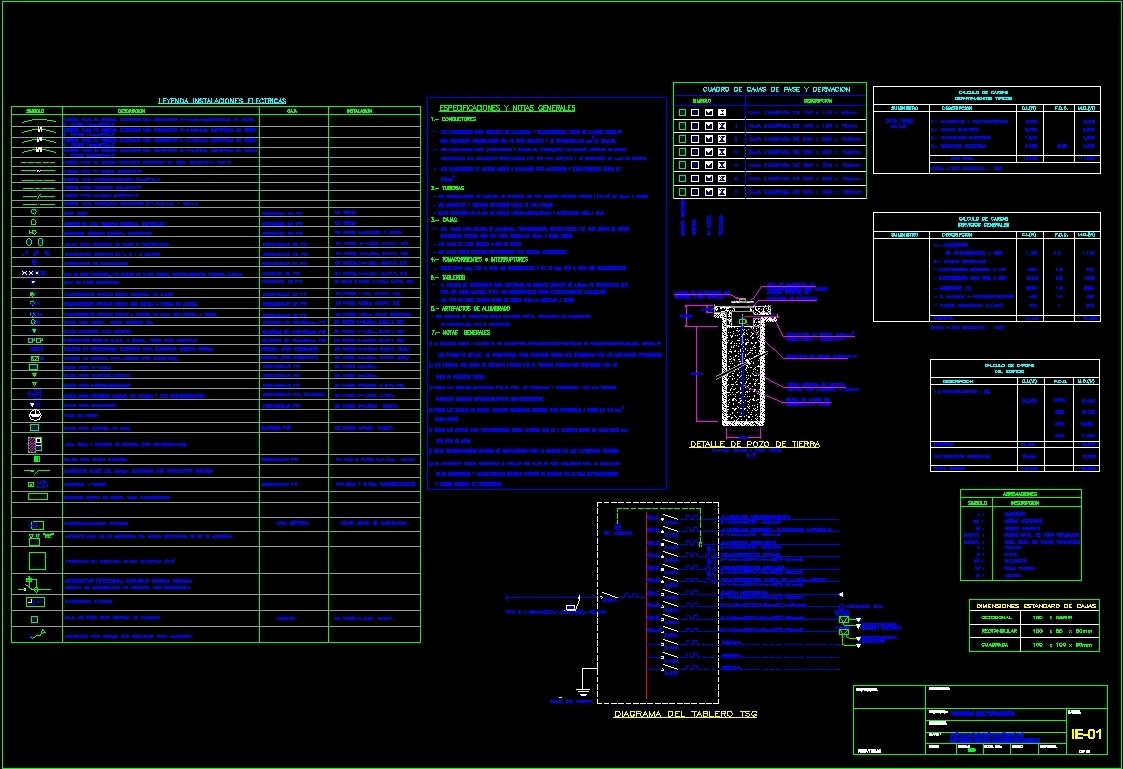 Multi Electrical Installations Dwg Detail For Autocad