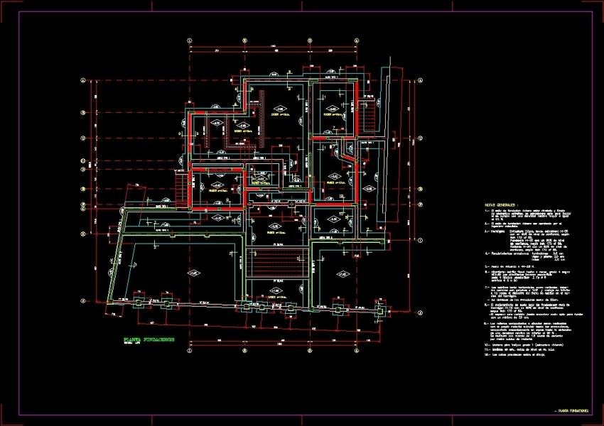 Plano Foundation DWG Detail for AutoCAD     Designs CAD Additional Screenshots