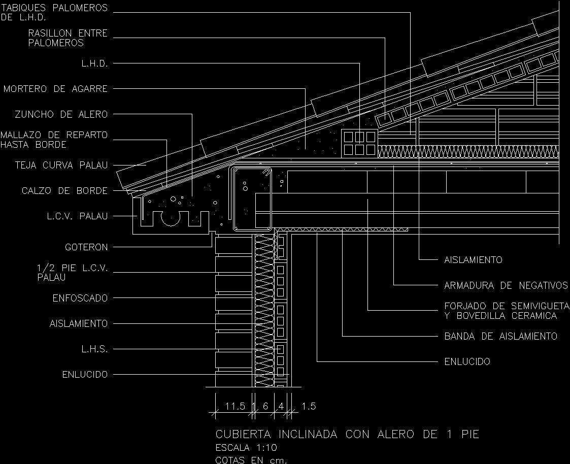 Sloping Alero Dwg Block For Autocad Designs Cad