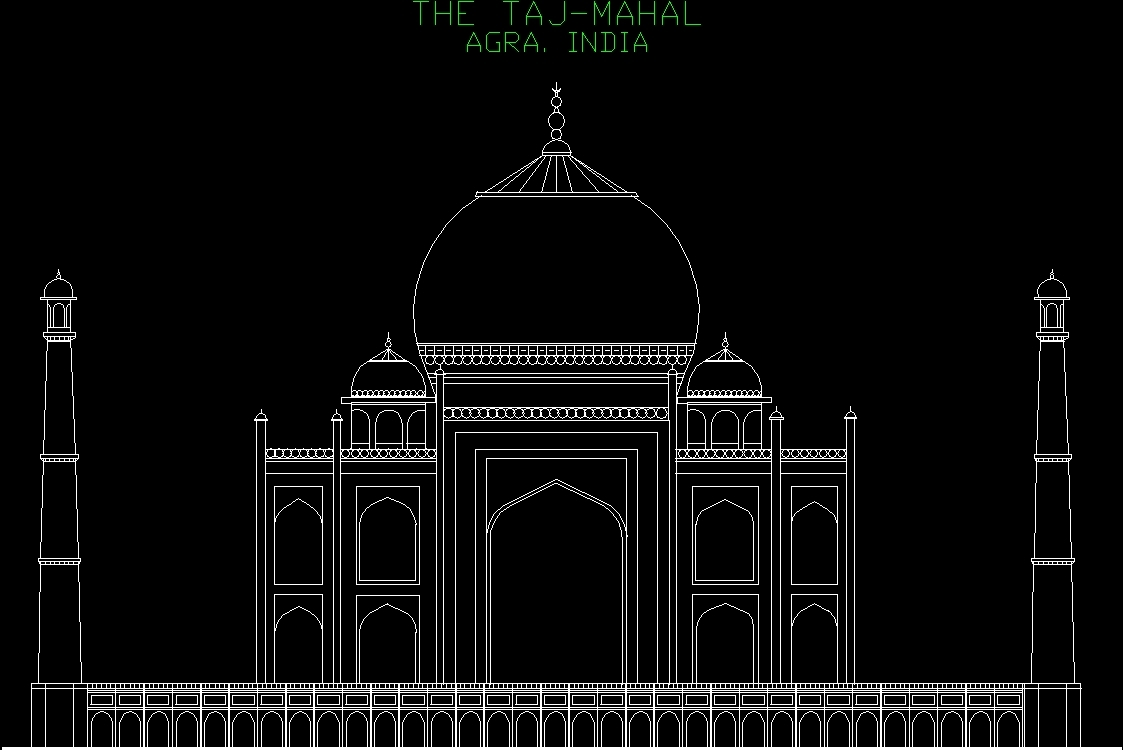 Taj Mahal Dwg Block For Autocad Designs Cad