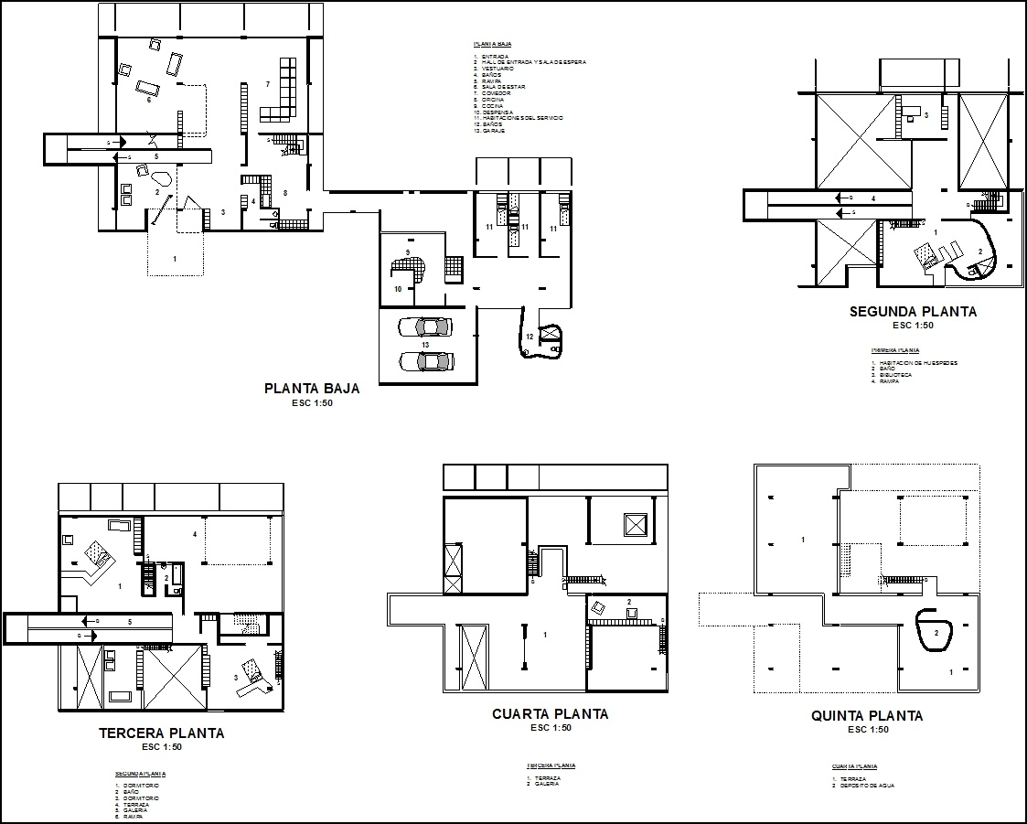 Shodan House Le Corbusier Dwg Block For Autocad