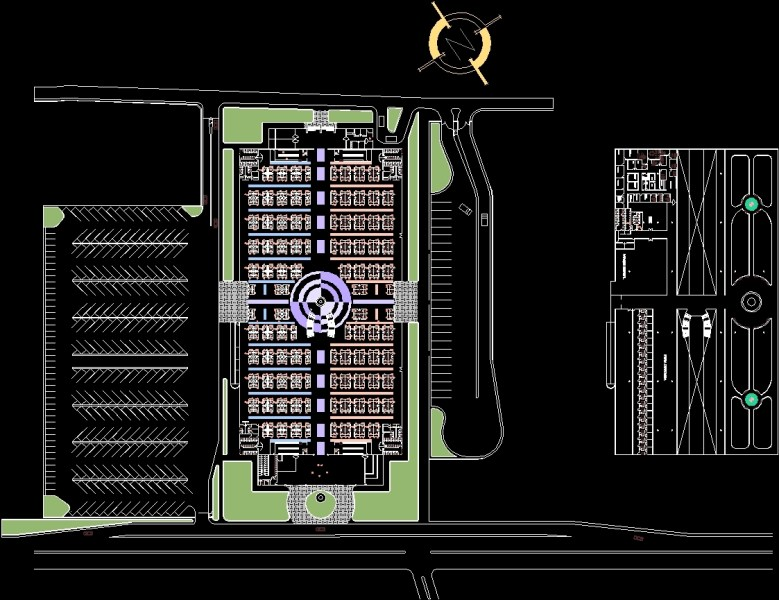 Plano Municipal Market DWG Plan for AutoCAD     Designs CAD Additional Screenshots