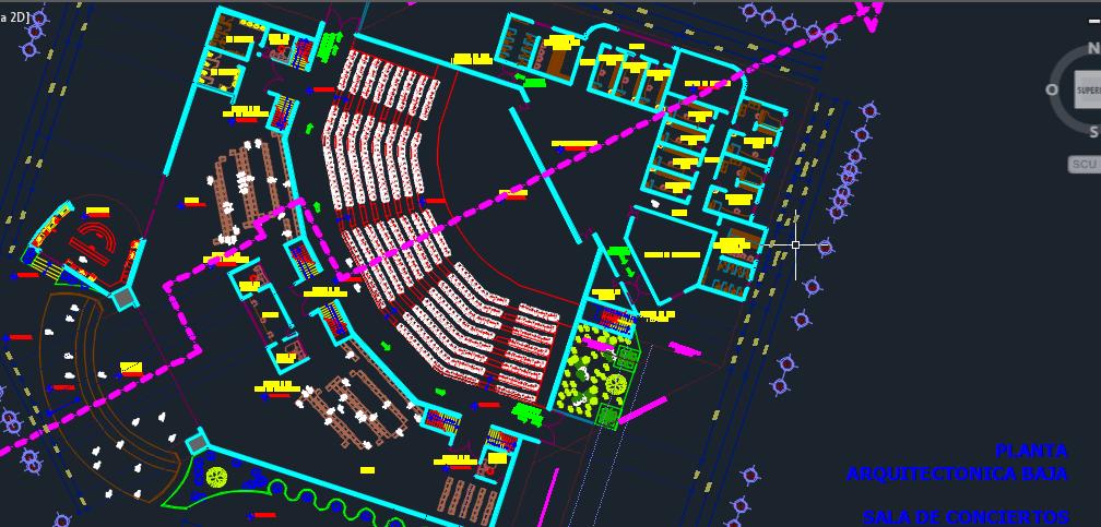 Auditorium For Events 2D DWG Design Block For AutoCAD