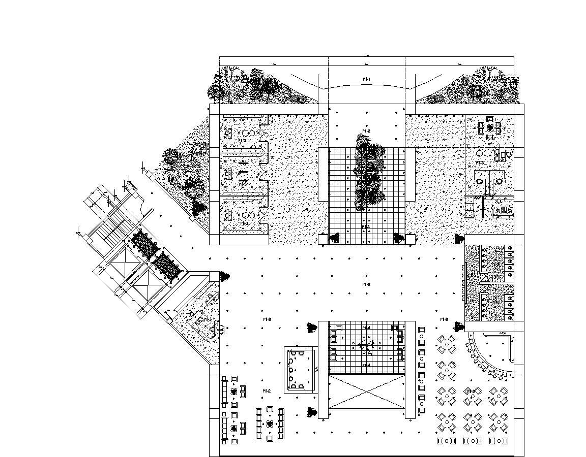 Convention Center Hotel 2d Dwg Plan For Autocad Designs Cad