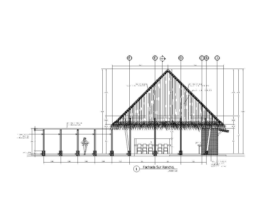Rancho Pit House Hogan 2d Dwg Plan For Autocad Designs Cad
