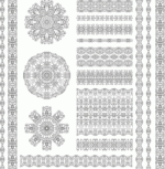 Ethnic Pattern Set Free Vector