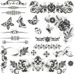 Ornaments Nsect Set Free Vector