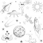 Space Doodle Free Vector