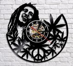 Laser Cut Bob Marley Vinyl Record Clock Template Free Vector