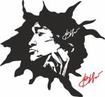 Viktor Tsoi Stencil Sticker Wall Art Free Vector
