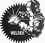Welder In Workshop DXF File