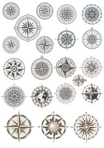 Compass Vectors Set Free Vector