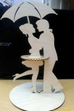 Laser Cut Dancing Couple Napkin Holder Free Vector