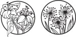 Laser Cut Engraving Floral Designs Free Vector