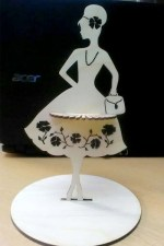 Laser Cut Fashion Lady Napkin Holder Free Vector