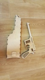 Laser Cut Mauser C96 With Wooden Holster Toy Gun Free Vector