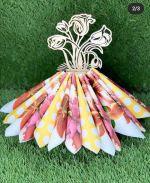 Laser Cut Napkin Holder Flowers In Vase Template Free Vector