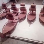Laser Cut Ship for Sushi DXF File
