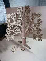 Laser Cut Signature Tree Wedding Guest Book Free Vector