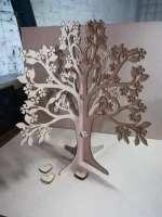 Laser Cut Signature Tree Wedding Guest Book Free Vector