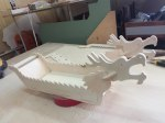 Laser Cut Tray For Sushi Chinese Dragon Boat 4mm Free Vector