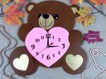 Laser Cut Bear Clock Free Vector
