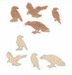 Laser Cut Birds Wooden Base For Bead Embroidery Free Vector