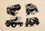 Laser Cut Engrave Jeepers Art Free Vector