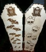 Laser Cut Engraved Coffin Free Vector