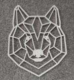 Laser Cut Geometric Bear Head Wall Art Free Vector