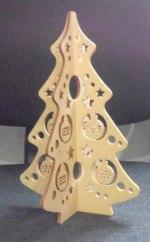 Laser Cut Herringbone Wood Christmas Tree Free Vector