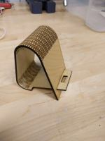 Laser Cut Living Hinge Phone Stand 3mm SVG File