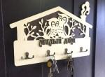 Laser Cut Owls Wall Key Hanger Free Vector