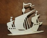 Laser Cut Sailing Ship Table Decor Free Vector