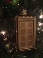 Laser Cut Tardis Christmas Ornament SVG File