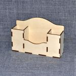 Laser Cut Wooden Desk Organizer Free Vector