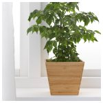 Laser Cut Wooden Plant Pot Flower Holder Free Vector
