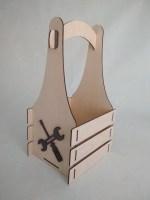 Laser Cut Wooden Tool Box Free Vector