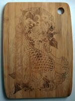 Laser Engraving Fish Design For Cutting Boards Free Vector