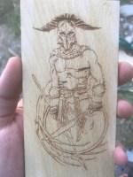 Laser Engraving Spartan Warrior Free Vector