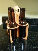 Laser Cut 4 Packer Beer Caddy DXF File