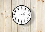 Laser Cut Ballet Wall Clock Dancing Ballerina Wall Clock Free Vector