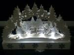 Laser Cut Christmas Scene Decorations Night Lamp Holiday Decorations PDF File