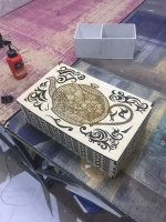 Laser Cut Decorative Tea Box With Tea Kettle Teapot Drawing Engraving Free Vector
