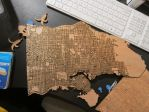 Laser Cut Engraved Wooden Vancouver Map DXF File