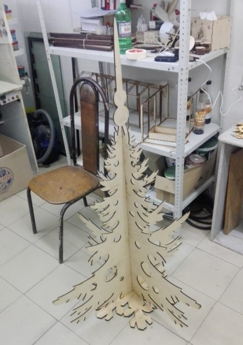 Christmas, Tree Modern, Christmas, Tree Alternatives, Plywood, 6mm Free Vector, Laser Cut, Artificial
