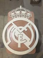 Real Madrid Logo Wooden Sports Logo Laser Cut Free Vector