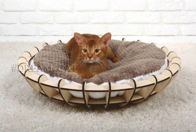 This image has an empty alt attribute; its file name is Cat-Bed-Cat-Furniture-Pet-Furniture-Free-Vector-Laser-Cut-Wooden.jpg