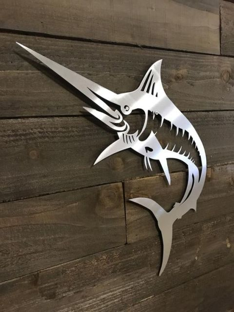 Marlin Wall Decor, Laser Cut, Free, Vector