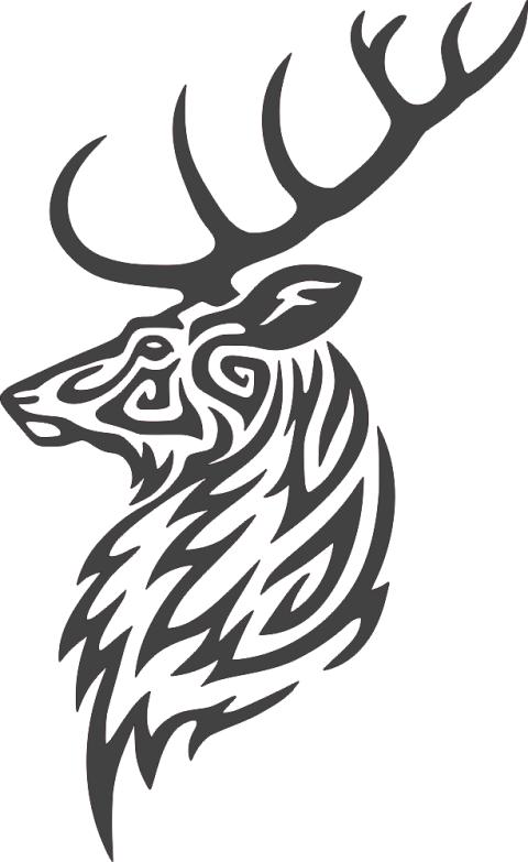 Buck-Deer-Head-DXF-File.png
